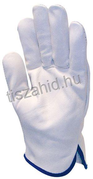 2218 szürke színű, tiszta színmarhabőr kesztyű