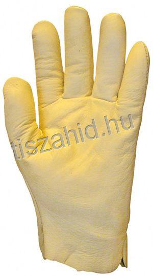 2419 puha, vastag színmarhabőr tenyér és kézhátú kesztyű
