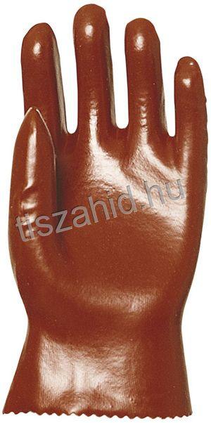 3510 27cm mártott bordó PVC kesztyű
