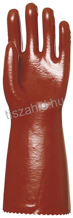 3635 36cm mártott bordó PVC kesztyű
