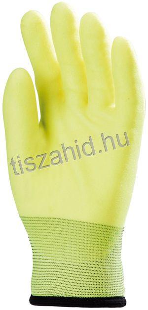 3920 kopásálló poliészter alapkesztyű PVC mártással
