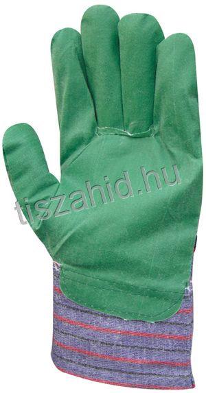 4120 zöld PVC pamut kesztyű