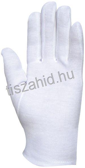 4146 100%-os fehér pamut kesztyű