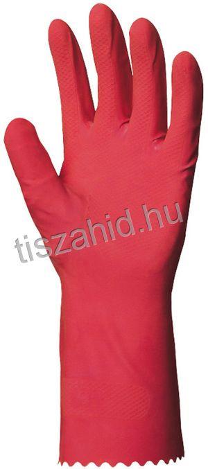5018 rózsaszínű természetes latex kesztyű