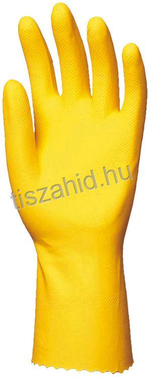 5028 sárga színű természetes latex kesztyű