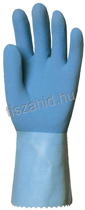 5219 pamutdzsörzé anyagra mártott kék latex