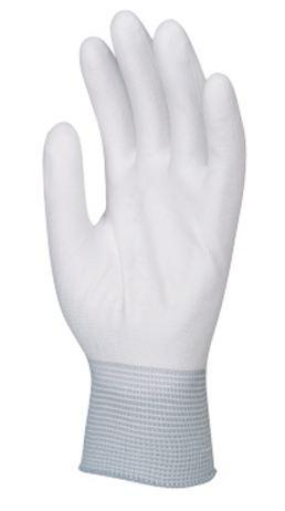 6018 Tenyéren mártott PU kesztyű fehér
