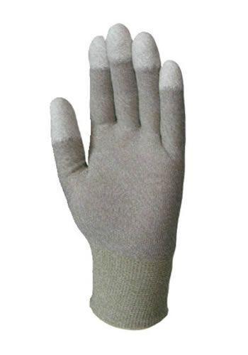 6175 esd ujjvég mártott PU kesztyű fehér