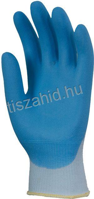 6338 tenyéren mártott nitril kesztyű kék