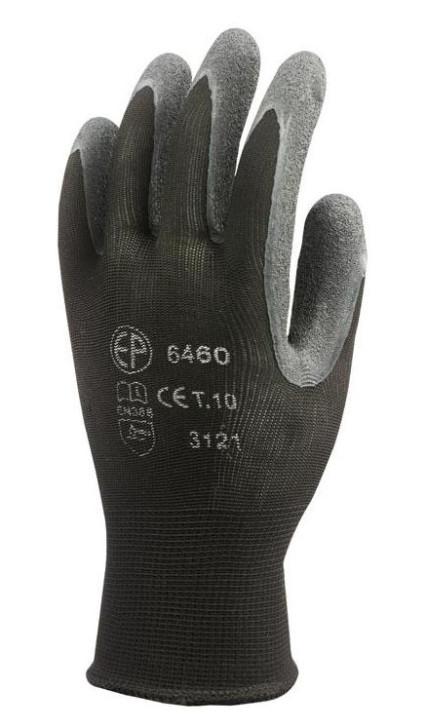 6458 Euroflex kötött rugalmas nylon szálú kesztyű, latex mártással