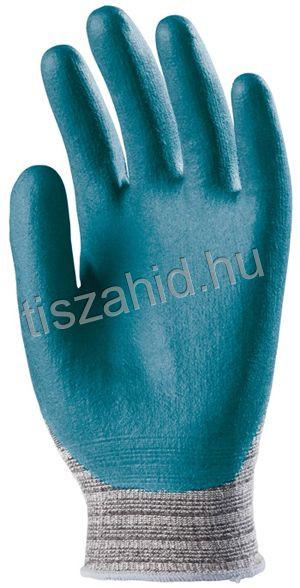 6659 tenyéren mártott nitril/pu mártott kesztyű kék