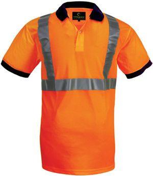 70280 fluo teniszpóló narancs