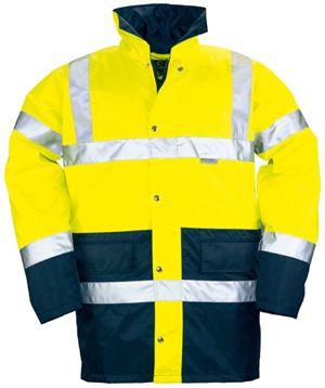 70450 HI-WAY fluo télikabát sárga/kék