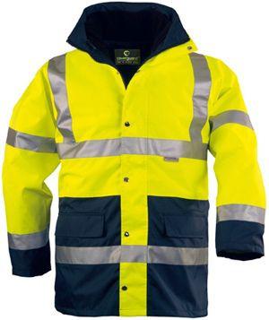 70550 HI-WAY FLUO PE 4/1 kabát sárga/kék