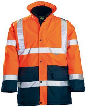 70560 HI-WAY FLUO PE 4/1 kabát narancs/kék