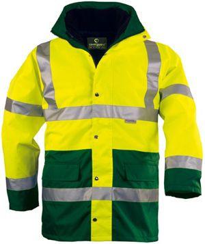 70570 HI-WAY FLUO PE 4/1 kabát sárga/zöld