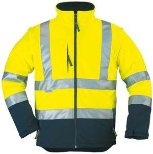 70630 SOFTSHELL Hi-Viz 2/1 fluo dzseki sárga/kék