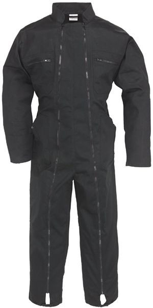 74580 2 zip overáll fekete
