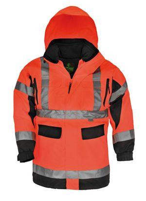 7AIRO AIRPORT 4/1 fluo PU kabát narancs/fekete