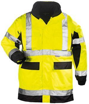 7AIRY AIRPORT 4/1 fluo PU kabát sárga/fekete