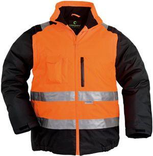 7HWXO HI-WAY XTRA 2/1 fluo kabát narancs
