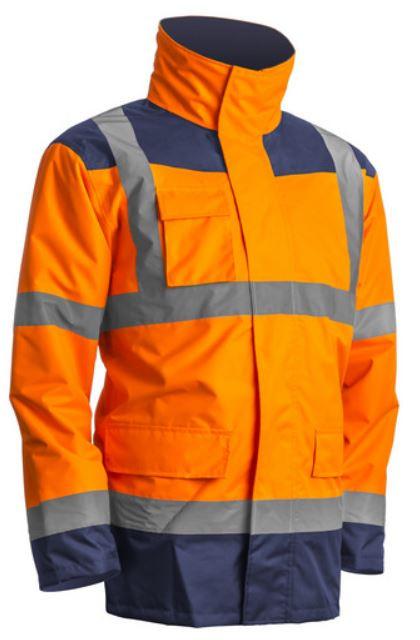 7KANO KANATA Hi-Viz PE kabát narancs/kék
