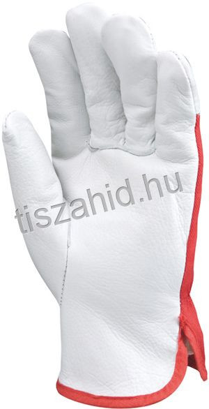 879 puha színborjúbőr kesztyű artéria- és körömvédővel