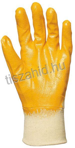 9307 pamutra ökölcsontig mártott nitril kesztyű