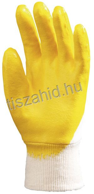 9320 pamutra ökölcsontig mártott nitril kesztyű
