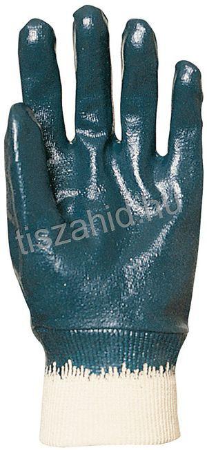 9438 pamutra kézfejig teljesen mártott kék nitril kesztyű