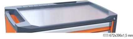 BETA 3700/PLA rozsdamentes acél munkalap a C37 fiókos szerszám kocsihoz