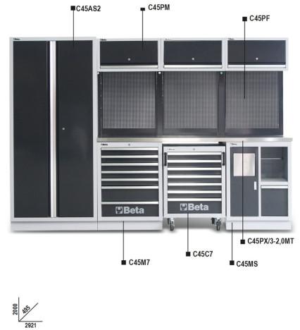 BETA C45/X C45 MŰHELYBERENDEZÉS ÖSSZEÁLLÍTÁS