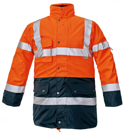 BI ROAD 4/1 kabát HV narancs/sötétkék