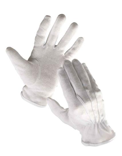 BUSTARD fehér pvc minipöttyös kesztyű