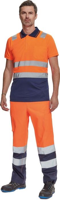 CADIZ HV galléros póló narancs/navy
