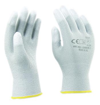 Carbon-1 Carbonszálas ESD kesztyű PU ujjvégmártással