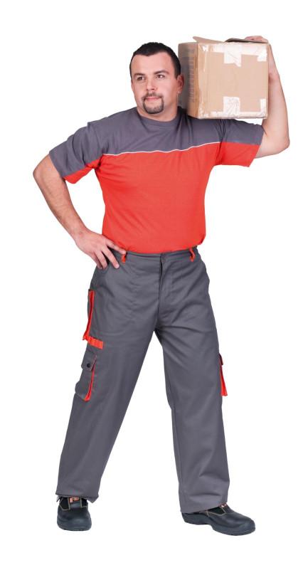 DESMAN póló szürke/narancs