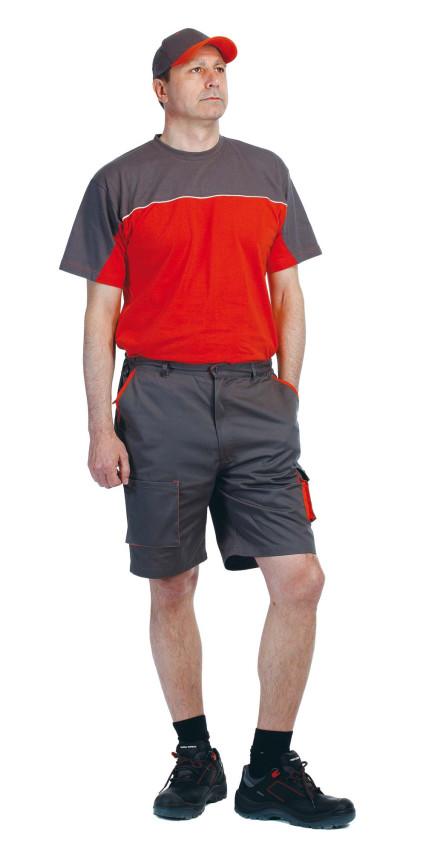 DESMAN rövidnadrág szürke/narancs