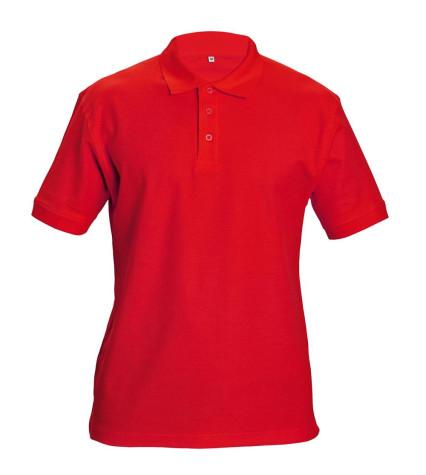 DHANU galléros póló piros