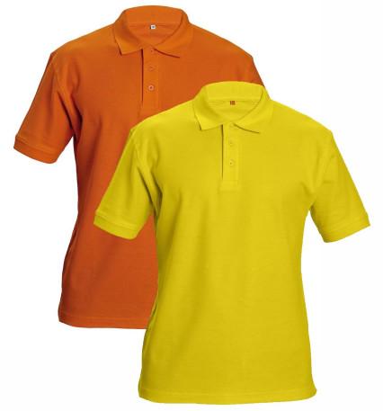 DHANU galléros póló sárga