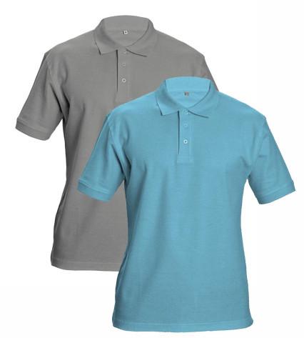 DHANU galléros póló világoskék