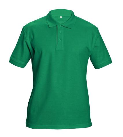 DHANU galléros póló zöld