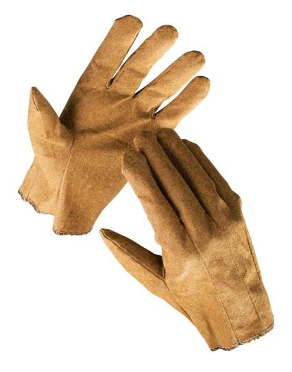 EGRET kötött pamutkelméből varrt vinil bevonatú kesztyű