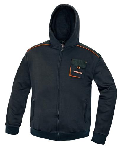 EMERTON kapucnis pulóver, melegítőfelső fekete