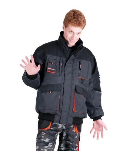 EMERTON PILOT téli dzseki fekete-narancs