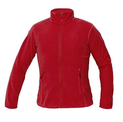 GOMTI női polár pulóver piros