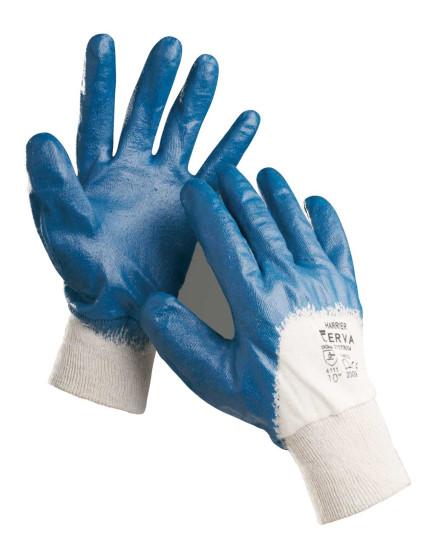 HARRIER BLUE félig nitrilbe mártott kesztyű