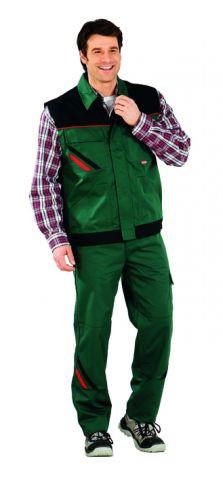 HIGHLINE-2365 zöld/fekete/piros mellény