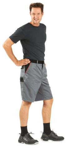 HIGHLINE-2372 szürke/fekete/piros rövidnadrág