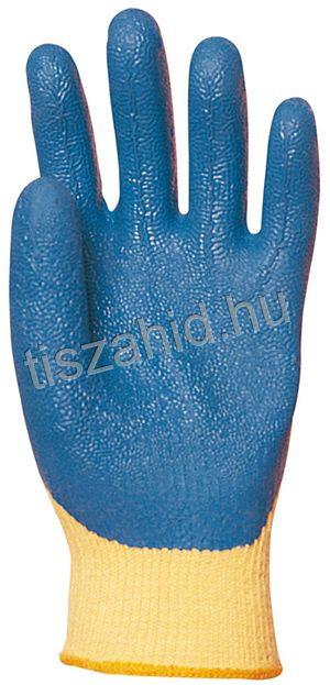 Kifutó! 3880 KEVLAR® alapkesztyűre kondenzált kék színű latex